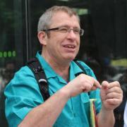 Dr. Tony Robinson teaches a class