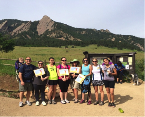 Grad students at Chautauqua park