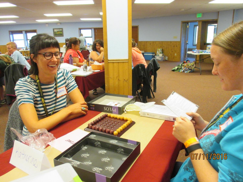 Teachers work together at a Math Circle Workshop