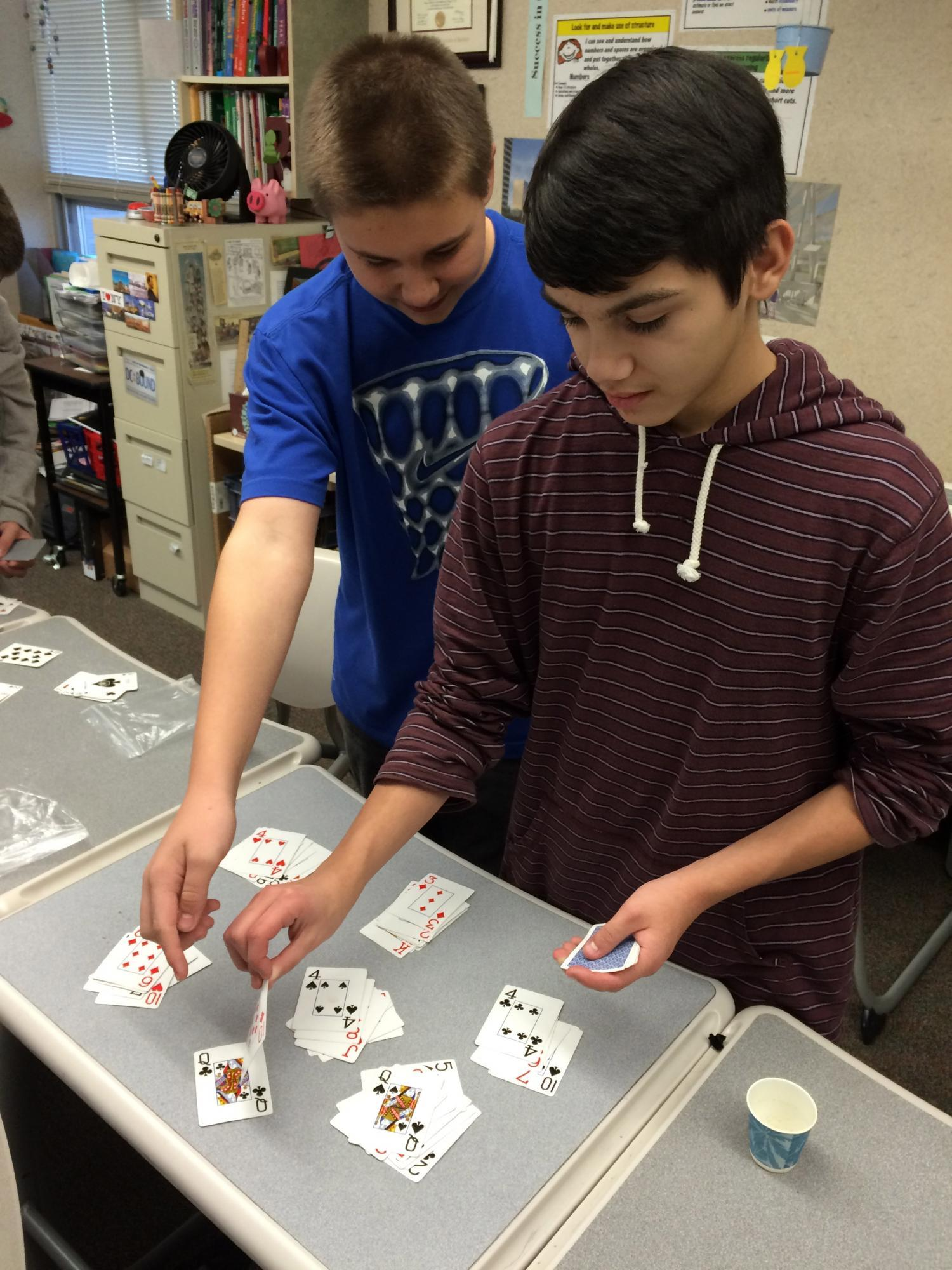 Students get involved in hands-on math activities!