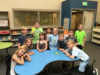 Students enjoy a Math Circle activity at Franktown elementary