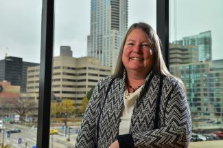 Dean Pamela Jansma in her office.