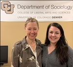Photo of Rebecca Minasian with Thesis Chair Dr. Bosick