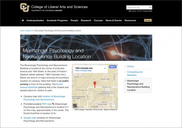 Embed a Google Map | CLAS Web Support | University of