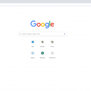 Graphic showing an open browser tab in Google Chrome