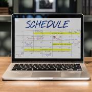 calendar on computer screen